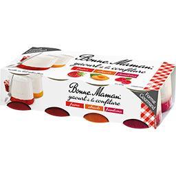 Yaourt à la confiture fraises/abricots/framboises