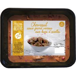 Chevreuil sauce grand veneur aux baies d'airelles