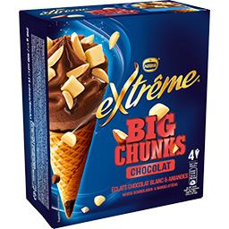 Nestlé Extrême Chunky Factory - Cônes gros éclats chocolat blanc am...