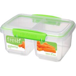 Boite alimentaire rect 2 compartiments Fresh moyenne taille