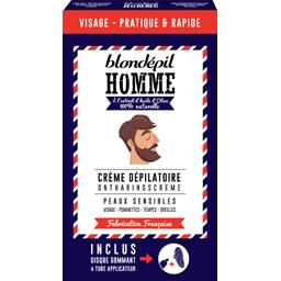 Blondépil Homme Crème Dépilatoire/Gant Gommant Aisselles/Corps Peaux Sensibles 200 ml - Lot de 3