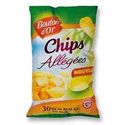Chips de pommes de terre allégées