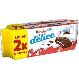 Délice - Gâteaux cacao fourrés lait