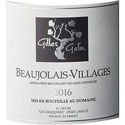 Beaujolais Villages Domaine Gilles Gelin vin Rouge 2016