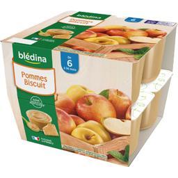 Desserts pommes biscuits, de 6 mois à 36 mois