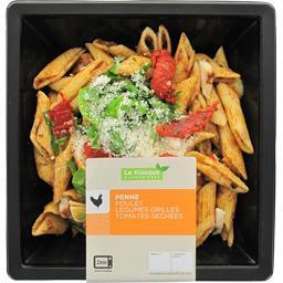 Penne poulet légumes grillés tomates séchées