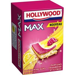 Hollywood Max - Chewing-gums sans sucres parfums framboises et...