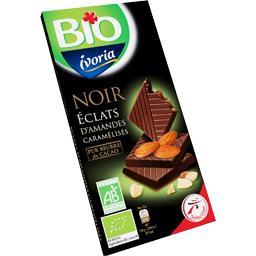 Bio Ivoria Chocolat noir éclats d'amandes caramélisés BIO la tablette 100 g