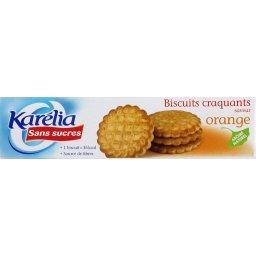 Biscuits craquants saveur orange sans sucres