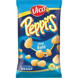 Peppi's Produit soufflé à base de pomme de terre goût salé