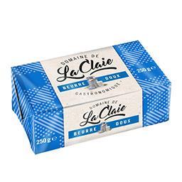 Domaine de la Claie Beurre gastronomique doux la plaquette de 250 g