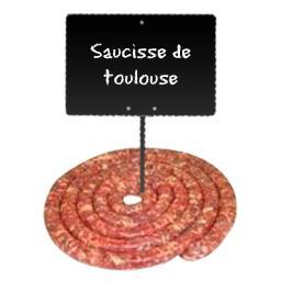 Saucisses de Toulouse brasse tradition sans colorant
