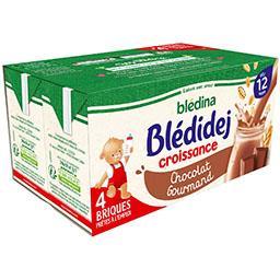 Blédidej Croissance - Céréales lactées chocolat gour...