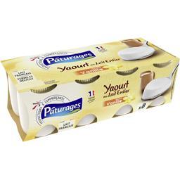 Yaourt au lait entier saveur vanille