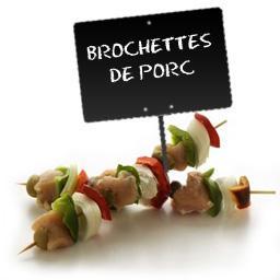 Brochettes de PORC extra tendre