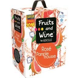 Boisson vin rosé et jus de pamplemousse