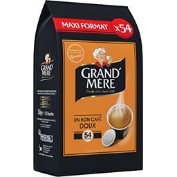 Dosettes de café moulu Doux