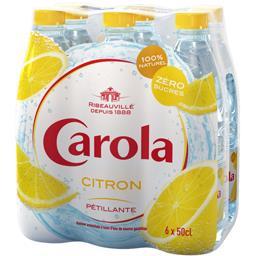 Carola Boisson pétillante citron zéro sucres les 6 bouteilles de 50 cl