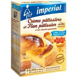 Crème pâtissière et flan pâtissier goût vanille inte...