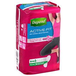 Serviettes absorbantes Active-Fit normal