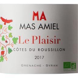Le plaisir rouge AOC 2017 BIO, vin rouge côtes du Roussillon