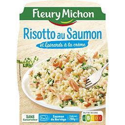 Risotto au saumon & épinards à la crème