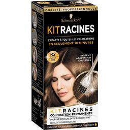 Kit Racines - Coloration permanente châtain doré R2