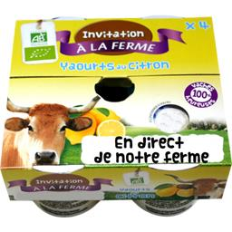 Yaourt citron BIO et local