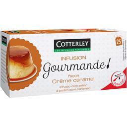Cotterley Infusion Gourmande façon crème caramel les 25 sachets de 1,6 g