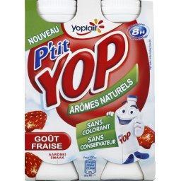 P'tit Yop - Yaourt à boire goût fraise