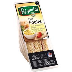 Sandwichs Club poulet sauce mayonnaise et fines herbes halal