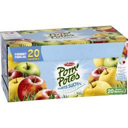 Pom'Potes - Pomme nature sans sucres ajoutés