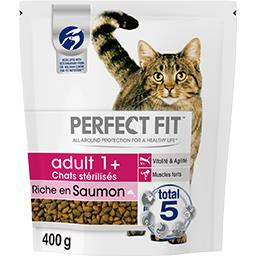 Perfect fit Croquettes riche en saumon Adult 1 + pour chats stéri... le sachet de 400 g