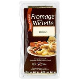 Fromage à Raclette avec de l'ail des ours