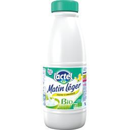 Lactel Matin Léger - Lait écrémé sans lactose BIO la bouteille de 1 l