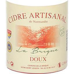 Cidre artisanal de Normandie La Brique doux