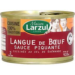 Langue de bœuf sauce piquante cuisinée au sel de Gué...
