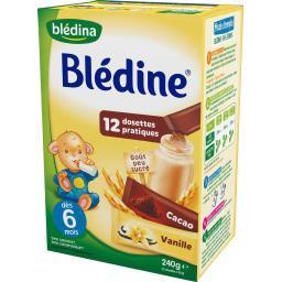 Blédine - Céréales dosettes vanille cacao, dès 6 moi...