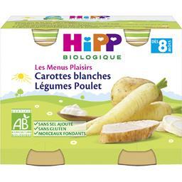 Les Menus Plaisirs - Carottes blanches légumes poule...