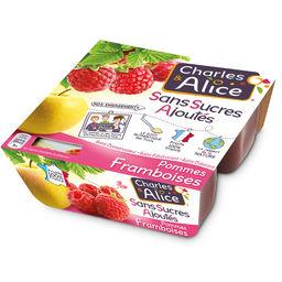 Charles & Alice Spécialité de pommes framboises sans sucres ajoutés