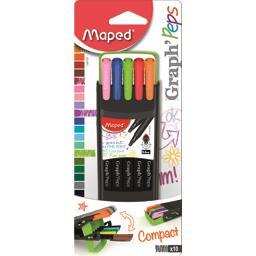 Graph'Peps - Feutres d'écriture Compact 0,4 mm 10 couleurs