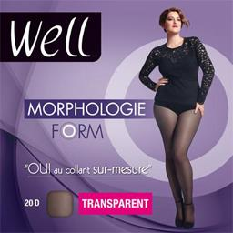 Morphologie - Collant Form transparent +1 M 65 noir