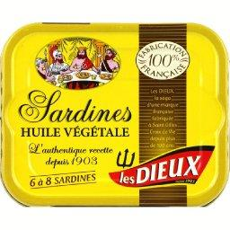 Les Dieux Sardines à l'huile végétale, recette traditionnelle,...