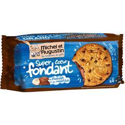 Super Cookies cœur fondant chocolat au lait et noise...