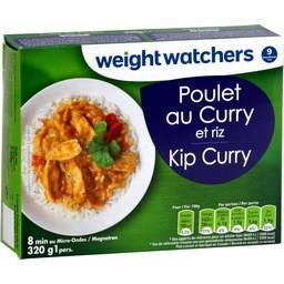 Poulet au curry et riz