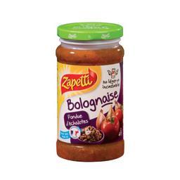 Sauce bolognaise fondue d'échalotes