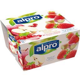 Produit fermenté soja groseille pomme et fraise rhubarbe