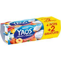 Nestlé Yaos - Le Yaourt à la grecque sur lit de pêches les 4 pots de 125 g