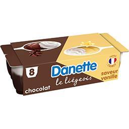Danette - Dessert lacté Le Liégeois chocolat/vanille