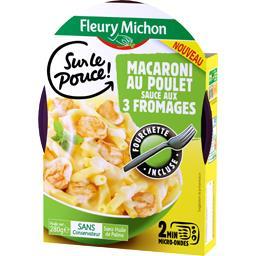 Macaroni, sauce aux 3 fromages et poulet